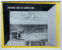 BNPS.co.uk (01202 558833)<br /> Pic: DavidLayFRICS/BNPS<br /> <br /> A sparse looking poster promotes Lands End<br /> <br />  A wonderful collection of vintage British travel posters celebrating the golden age of the seaside getaway have emerged for sale for £15,000.<br /> <br /> The posters were produced by Great Western Railway and British Railways between the 1930s to the 1960s to encourage Brits to holiday on the Cornish coast.<br /> <br /> One striking Art Deco poster issued by Great Western Railway shows a lady in an orange swimsuit at Newquay with surfers in the background. <br /> <br /> It describes the popular holiday destination as 'Cornwall's first Atlantic resort'.<br /> <br /> The collection of about 30 posters has been put together by a private collector over the past two decades who is now selling them with auction house David Lay FRICS, of Penzance, Cornwall.