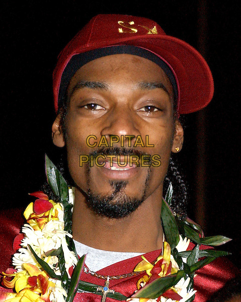 SNOOP DOGG.after The Snoop Dogg Jr. All-Stars win their game at The Snoop Classic '04 held at St. MatthiasÊHigh School in Downey, California .**UK Sales Only**.17 January 2004     .portrait, headshot, beard, goatee, baseball cap, hat                                          .www.capitalpictures.com.sales@capitalpictures.com.©Capital Pictures.