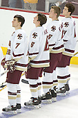 Peter Harrold, Tim Kunes, Tim Filangieri, Mike Brennan  The Boston College Eagles defeated the Providence College Friars 3-2 in regulation on October 29, 2005 at Kelley Rink in Conte Forum in Chestnut Hill, MA.  It was BC's first Hockey East win of the season and Providence's first HE loss.