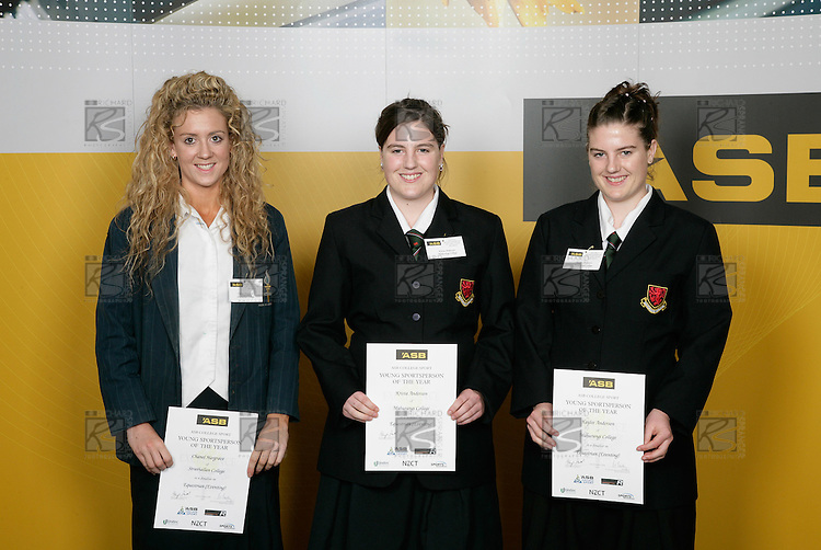 Equestrian Eventing Girls Finalists. ASB College Sport Young Sportsperson of the Year Awards 2006, held at Eden Park on Thursday 16th of November 2006.<br />