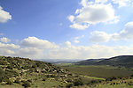 Israel, Shephelah, a view of the Elah Valley from of Khirbet Qeiyafa, site of Biblical Shaaraim