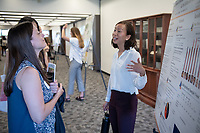 "Hannah Lee presents, ""Perceptions of Sexual Risk Behavior: Differences Among Racial/Gender Groups and its influence on Sexual Risk Behavior""<br /> Mentor: Patricia Cabral, Psychology<br /> Occidental College's Undergraduate Research Center hosts their annual Summer Undergraduate Research Conference on July 31, 2019. Student researchers presented their work as either oral or poster presentations at this final conference. The program lasts 10 weeks and involves independent research in all departments.<br /> (Photo by Marc Campos, Occidental College Photographer)"