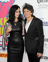 NEW YORK, NY - NOVEMBER 15: Ronnie Wood and Sally Wood  attends The Rolling Stones Exhibitionism opening night at Industria Superstudio on November 15, 2016 in New York City. Photo by John Palmer MediaPunch