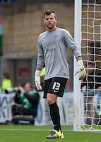 Goalkeeper Adam Bartlett of Hartlepool United during the Sky Bet League 2 match between Wycombe Wanderers and Hartlepool United at Adams Park, High Wycombe, England on 5 September 2015. Photo by Andy Rowland.