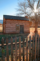 Abandoned school house (circ 1886), Grafton (ghost town), Rockville, Washington County, U