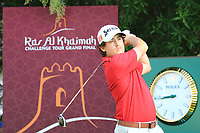 Darius Van Driel (NED) during the first round of the Ras Al Khaimah Challenge Tour Grand Final played at Al Hamra Golf Club, Ras Al Khaimah, UAE. 31/10/2018<br />
