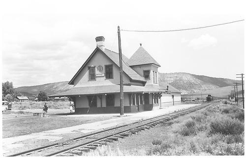 Ridgway depot.<br /> RGS  Ridgway, CO  Taken by Jackson, Richard B. - 7/2/1940
