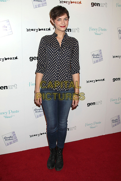 LOS ANGELES, CA - JANUARY 28: Elvy Yost at the premiere of 'Brightest Star' at the Sundance Cinema on January 28, 2014 in Los Angeles, California.<br /> CAP/ADM/RE<br /> &copy;Russ Elliot/AdMedia/Capital Pictures