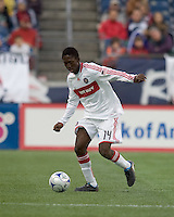 Chicago Fire forward Patrick Nyarko (14). The New England Revolution out scored the Chicago Fire, 2-1, in Game 1 of the Eastern Conference Semifinal Series at Gillette Stadium on November 1, 2009.