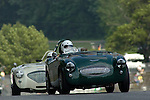 Kohler International Challenge with Brian Redman, 2006<br /> <br /> Fred Fischer in his 1955 Austin Healey 100S is followed by the 1954 Healey 100M of Bruce Earle at Road America 2006<br /> <br /> Please contact me for full-size images.<br /> <br /> For non-editorial usage, releases are the responsibility of the licensee.