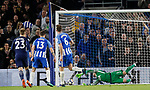 Pascal Gross of Brighton equalities from the penalty spot during the premier league match at the Amex Stadium, London. Picture date 17th April 2018. Picture credit should read: David Klein/Sportimage
