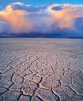 Alvord Desert and clouds Harney County, Oregon.