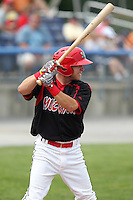 Batavia Muckdogs outfielder Matt Valaika (8) during a game vs. the Mahoning Valley Scrappers at Dwyer Stadium in Batavia, New York August 3, 2010.  Batavia defeated Mahoning Valley 8-1.  Photo By Mike Janes/Four Seam Images