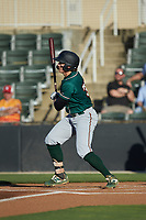 Mason Martin (35) of the Greensboro Grasshoppers follows through on his swing against the Rapidos de Kannapolis at Kannapolis Intimidators Stadium on June 14, 2019 in Kannapolis, North Carolina. The Grasshoppers defeated the Rapidos de Kannapolis 4-1. (Brian Westerholt/Four Seam Images)