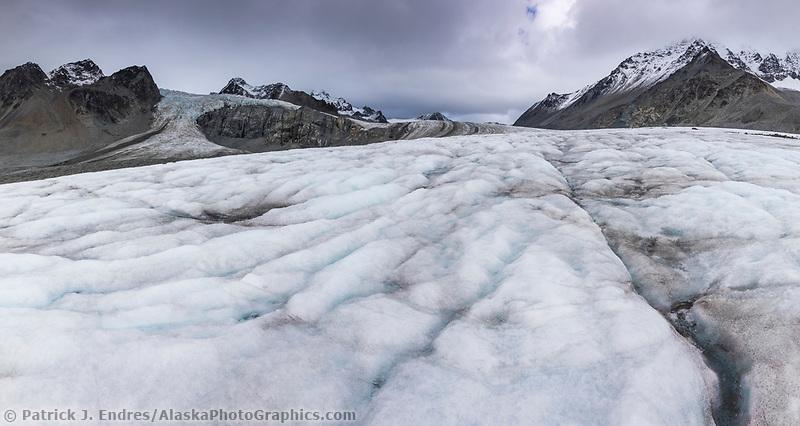 Crevasses on the Gulkana Glacier in the Alaska Range mountains, Interior, Alaska.