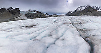 Crevasses on the Gulkana Glacier in the Alaska Range mountains, Interior, Alaska.