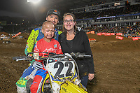 Chad Reed (AUS)<br /> 2018 SX Open - Auckland / SX 1<br /> FIM Oceania Supercross Championships<br /> Mt Smart Stadium / Auckland NZ<br /> Saturday Nov 24th 2018<br /> &copy; Sport the library/ Jeff Crow / AME