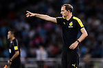 Borussia Dortmund manager Thomas Tuchel instructs his squad during the match against Manchester City FC at the 2016 International Champions Cup China match at the Shenzhen Stadium on 28 July 2016 in Shenzhen, China. Photo by Victor Fraile / Power Sport Images