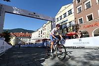 Picture by Richard Blaxall/SWpix.com - 28/09/2018 - Cycling 2018 Road Cycling World Championships Innsbruck-Tiriol, Austria - Mens U23 Road Race - James Shaw of Great Britain.
