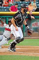 John Hester (22) of the Salt Lake Bees during the game against the Nashville Sounds in Pacific Coast League action at Smith's Ballpark on June 23, 2014 in Salt Lake City, Utah.  (Stephen Smith/Four Seam Images)