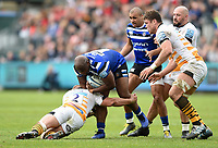 Beno Obano of Bath Rugby takes on the Wasps defence. Gallagher Premiership match, between Bath Rugby and Wasps on May 5, 2019 at the Recreation Ground in Bath, England. Photo by: Patrick Khachfe / Onside Images