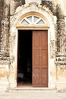 Door of La Merced Church in the Spanish colonial city of Granada, Nicaragua