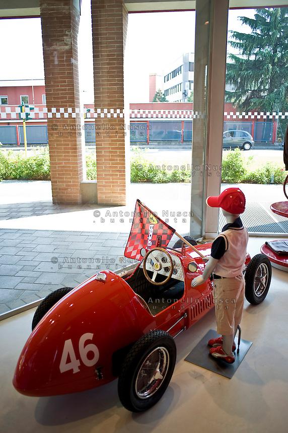 Ferrari objects for sale at the Ferraris's store in Maranello,Italy..Oggetti firmati Ferrari in vendita nel Ferrari store di Maranello