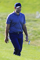 Former NFL Dallas Cowboys quarterback and now CBS commentator Tony Romo at the 4th green at Spyglass Hill during Thursday's Round 1 of the 2018 AT&amp;T Pebble Beach Pro-Am, held over 3 courses Pebble Beach, Spyglass Hill and Monterey, California, USA. 8th February 2018.<br /> Picture: Eoin Clarke | Golffile<br /> <br /> <br /> All photos usage must carry mandatory copyright credit (&copy; Golffile | Eoin Clarke)