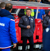 4th November 2017, bet365 Stadium, Stoke-on-Trent, England; EPL Premier League football, Stoke City versus Leicester City; Leicester City manager Claude Puel arrives for the game