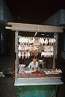 In Ho Chi Minh City, Saigon, February 1988. Typical small business we can find everywhere in the city streets.