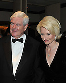 Washington, D.C. - May 9, 2009 -- Former Speaker of the House Newt Gingrich (Republican of Georgia), left and his wife, Calista, attend one of the parties prior to the White House Correspondents Dinner in Washington, D.C. on Saturday, May 9, 2009..Credit: Ron Sachs / CNP.(RESTRICTION: NO New York or New Jersey Newspapers or newspapers within a 75 mile radius of New York City)