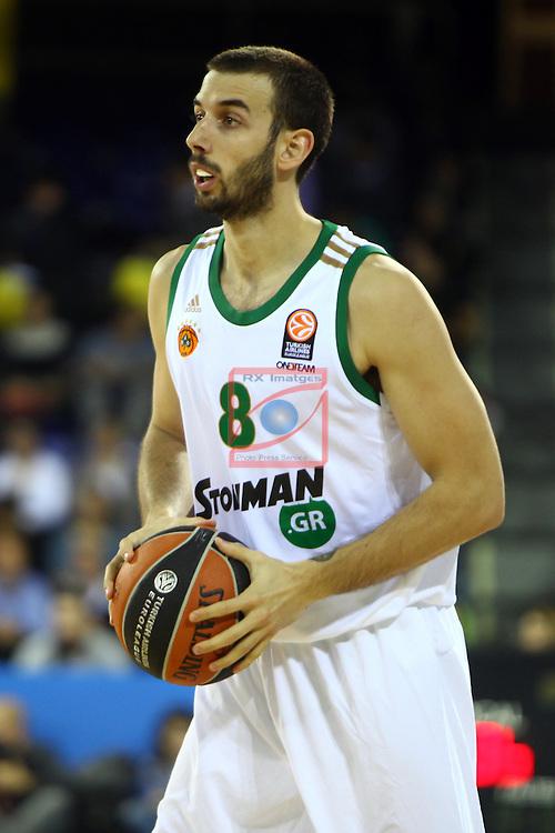 Euroleague Basketball-Regular Season Round 5.<br /> FC Barcelona vs Panathinaikos Athens: 78-69.<br /> Vlantimir Giankovits.