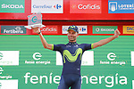 Jos&eacute; Joaquin Rojas (ESP) Movistar Team wins the day's combativity award at the end of Stage 18 of the 2017 La Vuelta, running 169km from Suances to Santo Toribio de Li&eacute;bana, Spain. 7th September 2017.<br /> Picture: Unipublic/&copy;photogomezsport | Cyclefile<br /> <br /> <br /> All photos usage must carry mandatory copyright credit (&copy; Cyclefile | Unipublic/&copy;photogomezsport)