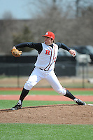 Rutgers University Scarlet Knights pitcher Howie Brey (22) during game game 1 of a double header against the University of Houston Cougers at Bainton Field on April 5, 2014 in Piscataway, New Jersey. Rutgers defeated Houston 7-3.      <br />  (Tomasso DeRosa/ Four Seam Images)