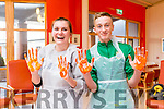 "Caught Orange Handed at Culture Night event  "" Art for Everyone"" at Baile Mhuire Day Care Centre in Balloonagh on Friday were Geraldine Kissane and Ciaran Commane"