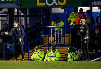 Wycombe Wanderers Manager Gareth Ainsworth and Paul Cook manager of Portsmouth during the FA Cup 1st round match between Portsmouth and Wycombe Wanderers at Fratton Park, Portsmouth, England on the 5th November 2016. Photo by Liam McAvoy.
