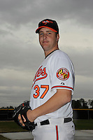 Feb 27, 2010; Tampa, FL, USA; Baltimore Orioles  pitcher Matt Albers (37) during  photoday at Ed Smith Stadium. Mandatory Credit: Tomasso De Rosa