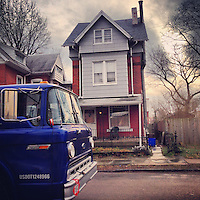 An old-school Ford oil truck was delivering oil to a house on McCallum Street on the afternoon of January 29, 2013.