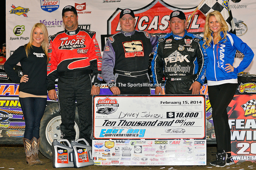 Feb 15, 2014; 9:51:13 PM; Gibsonton, FL., USA; The Lucas Oil Dirt Late Model Racing Series running The 38th Aannual WinterNationals at East Bay Raceway Park.  Mandatory Credit: (thesportswire.net)