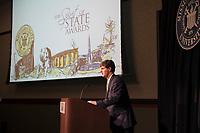 Spirit of State Awards ceremony. Sam Andrews speaking.<br />  (photo by Megan Bean / &copy; Mississippi State University)