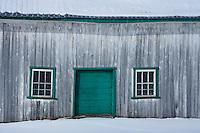 Amérique/Amérique du Nord/Canada/Québec/  env de Deschambault:  Batiments agricoles en bois sur le   Chemin du Roy