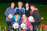 At the Gaelic 4 Mother & Others at Farranfore GAA Grounds on Tuesday evening Front l-r: Fiona Walshe and Denise O'Sullivan. Back l-r: Lorraine Dower,Helena O'Sullivan,Joan Spring and Linda Ring.