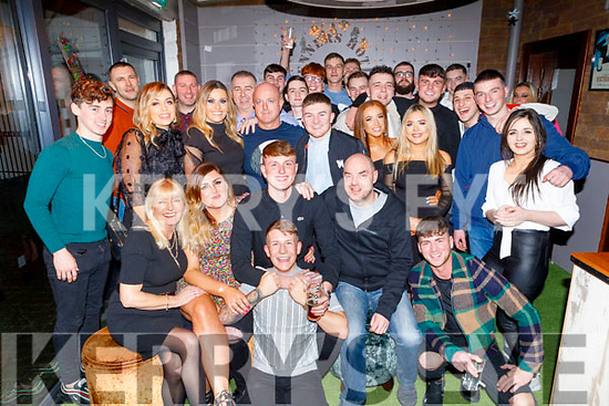 Shane Fitzgerald from Tralee celebrating his 21st birthday in Benners Hotel on Saturday.<br /> L to r: Lana and Gina O'Shea, Shane Fitzgerald, Owen Gunn, Billy Fitzgerald and Stephen James.