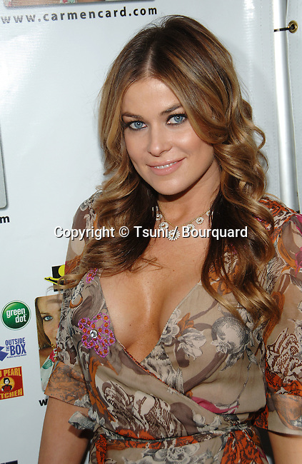Carmen Electra Launch Party to Announce The &quot;Carmen Electra PrePaid Credit Card and Gift Card&quot; at the Red Pearl Kitchen in Los Angeles.<br /> <br /> headshot<br /> smile<br /> eye contact