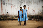 Two Christian refugee young girls at YMCA relief comittee in Orissa's capital Bhubaneswar. .Nov. 04, 2008..