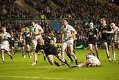 2nd December 2017, Rioch Arena, Coventry, England; Aviva Premiership rugby, Wasps versus Leicester;  Kearnan Myall  goes over for a try in the final minute to win the game 32:25 against local rivals Leicester Tigers