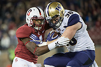 Stanford, Ca - November 10, 2017: The Stanford Cardinal defeats the #9 University of Washington Huskies 30-22 at Stanford Stadium.