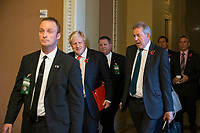 British Secretary of State for Foreign and Commonwealth Affairs Boris Johnson, left, and British Ambassador to the United States, Sir Kim Darroch, right, walk through the United States Capitol Building after meeting with United States Senate Majority Leader Mitch McConnell, Republican of Kentucky, on November, 8th, 2017 in Washington, D.C. <br /> Credit: Alex Edelman / CNP /MediaPunch