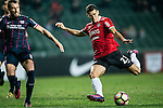 Muangthong United Forward Cleiton Silva (r) attempts a kick during the 2017 Lunar New Year Cup match between SC Kitchee (HKG) vs Muangthong United (THA) on January 28, 2017 in Hong Kong, Hong Kong. Photo by Marcio Rodrigo Machado/Power Sport Images