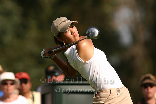 March 25, 2004; Rancho Mirage, CA, USA;  14 year old amateur Michelle Wie tees off at the 16th hole during the 1st round of the LPGA Kraft Nabisco golf tournament held at Mission Hills Country Club.  Wie finished the day tied for 7th with a 3 under par 69.<br />